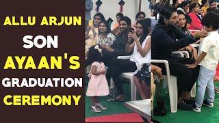 Watch: Allu Arjun attends son Ayaan's graduation ceremony ..