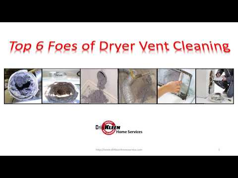 Top 6 Foes of Dryer Vent Cleaning