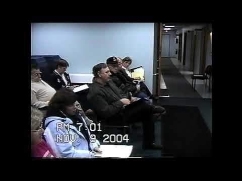 Champlain Town Board Meeting  11-9-04
