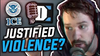 Can political violence ever be justified? - Destiny debates TheQuartering