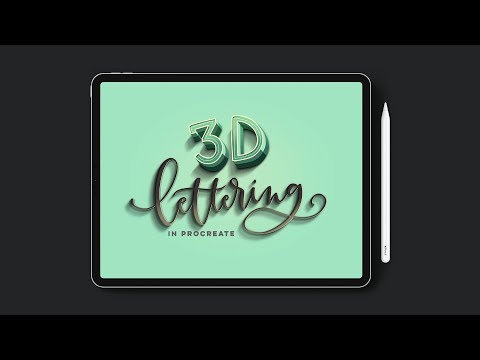 New Course! 3D Lettering in Procreate