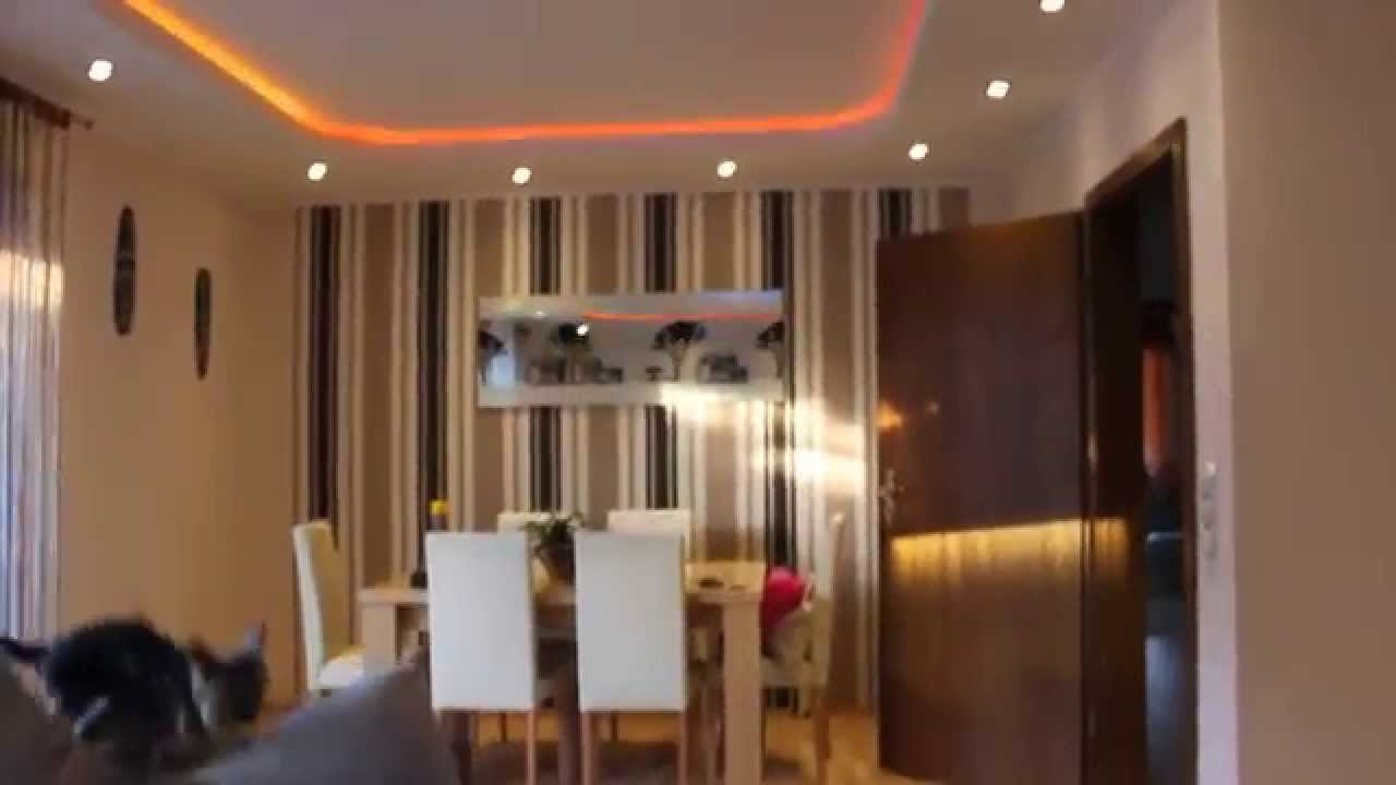 indirekte beleuchtung led wohnzimmer youtube. Black Bedroom Furniture Sets. Home Design Ideas