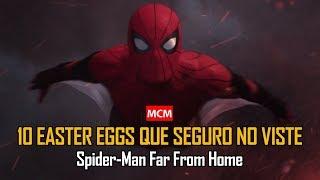 SPIDER-MAN FAR FROM HOME   ¡10 REFERENCIAS SECRETAS o easter eggs que seguro NO VISTE en el trailer!