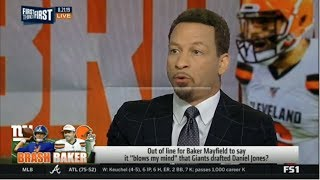 FIRST THINGS FIRST | Chris Broussard STUNNED by Baker Mayfield on Giants drafting Daniel Jones