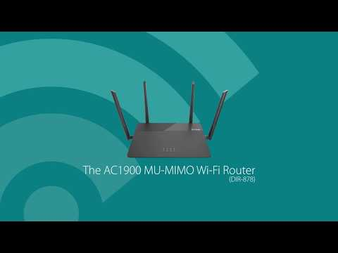 D-Link's AC1900 MU-MIMO Wi-Fi Router (DIR-878) delivers premium performance for users who demand faster Wi-Fi speeds for HD streaming and gaming on multiple devices.
