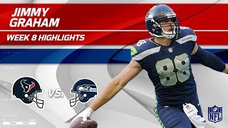 Jimmy Graham Grabs 2 TDs vs. Houston! | Texans vs. Seahawks | Wk 8 Player Highlights