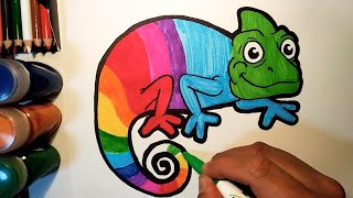 Draw and Learn Funny Animals for Kids - Crab, Eagle, Chameleon