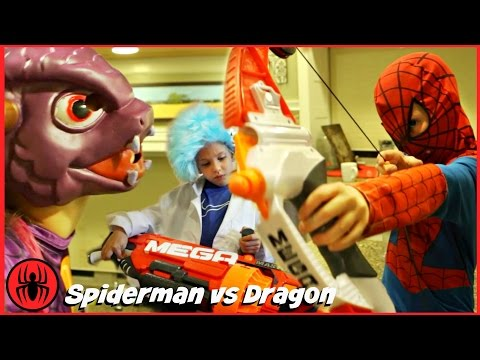 Spiderman vs Dragon Mon Poster