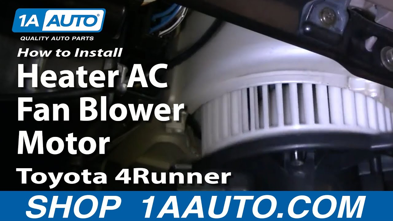 wiring diagram 2006 gmc sierra how to install replace heater ac fan blower motor toyota  how to install replace heater ac fan blower motor toyota