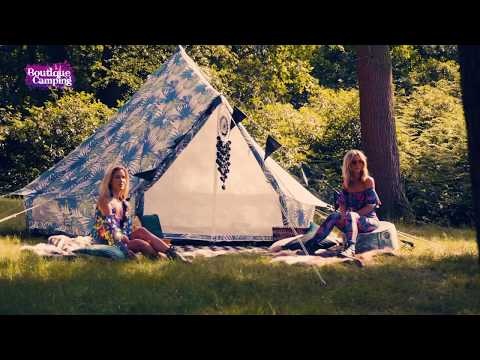 Boutique Camping Tents 4m Weekender Polyester Rundzelte - Palm Leaf