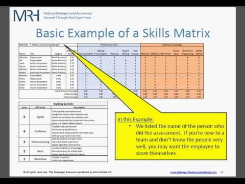 team training plan template - employee skills matrix short version phim video clip