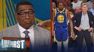 Cris Carter reacts to Steve Kerr's comments on Kevin Durant's injury | NBA | FIRST THINGS FIRST