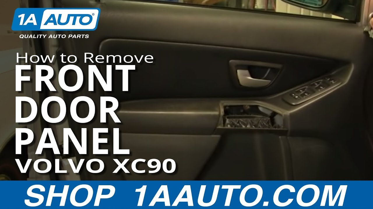How To Install Replace Remove Front Door Panel Volvo Xc90