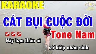 Karaoke Các Bụi Cuộc Đời Tone Nam Nhạc Sống | Trọng Hiếu