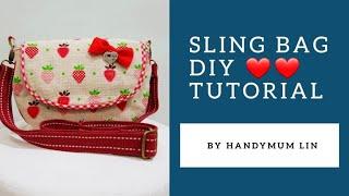 Cute Sling Bag Diy Tutorial | Children Version | 草莓斜挎包制作方法,可爱啊!❤❤