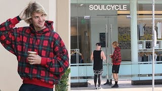 EXCLUSIVE - Justin Bieber Denied Entry At SoulCycle!