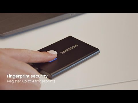 Portable SSD T7 Touch: At work   Samsung