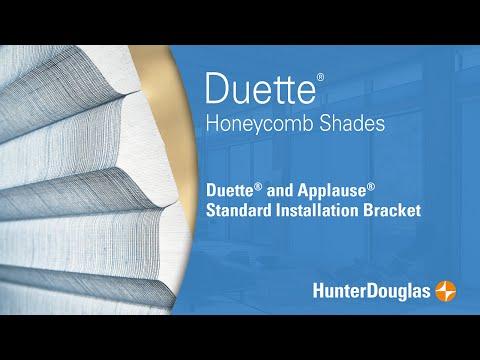 Duette® Honeycomb Shades - Standard Installation Bracket - Hunter Douglas