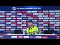 Andy Balbirnie Ireland's captain speaks to the media conference after losing to Namibia #T20WorldCup