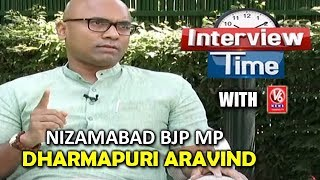 Interview Time With Nizamabad BJP MP Dharmapuri Aravind..