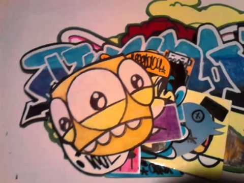 Juggalody graffiti sticker slaps - YouTube
