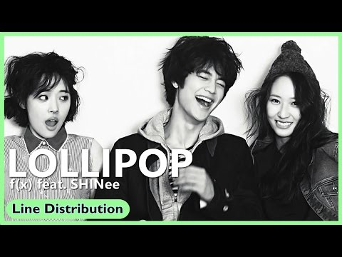 f(x) feat. SHINee 「Lollipop」 Line Distribution | Color Coded Bars