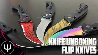 Real CS:GO Knife Unboxing — Part 5 — Flip Knives (+Massive Giveaway)!