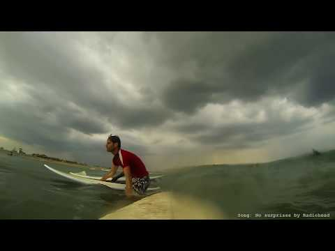 Surf accident in Sri Lanka