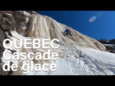 Cascade de glace au Quebec Nipissis River Northern Quebec montagne alpinisme voyage