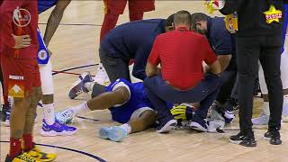 Kawhi Leonard left a bloody mess by accidental elbow from Clippers' teammate Serge Ibaka