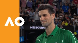 Novak Djokovic Interview After 900th Career Win | Australian Open 2020 R1