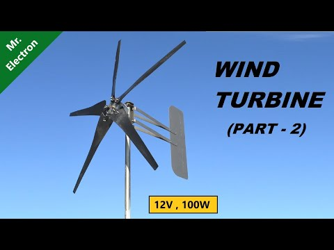 How to Make 12V Wind Turbine Generator from RO Pump - Part 2