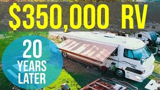 """TOUR OF OUR 20 YEAR OLD """"LUXURY"""" RV - Family of 7 living in FORETRAVEL Motorhome with NO SLIDES!!!"""