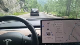 Tesla Model 3 AP 2.5 in Glacier National Park in Montana July 20 2019