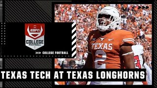 Texas Tech Red Raiders at Texas Longhorns   Full Game Highlights