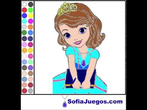 Juego: Colorear Princesa Sofia Gratis Online - YouTube