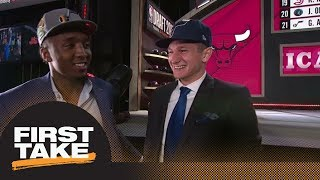 How will Grayson Allen and Donovan Mitchell play together on Jazz? | First Take | ESPN