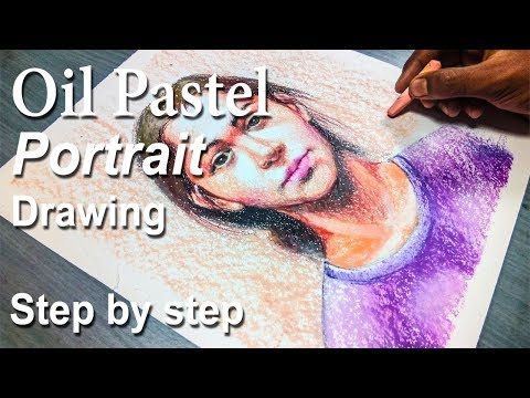 Pastel Drawing | How to Draw A Girl Portrait in Oil Pastel step by step