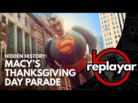 Nostalgic New Yorkers get a historical view of the Macy's Thanksgiving Day Parade using new augmented reality technology.