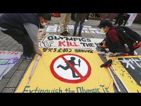 Manifestações no Japão contra os Jogos Olímpicos