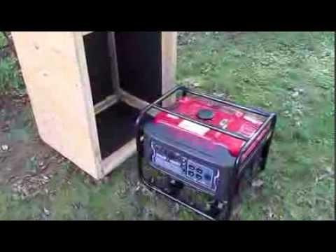 Generator Quiet Box Baffle Box Youtube