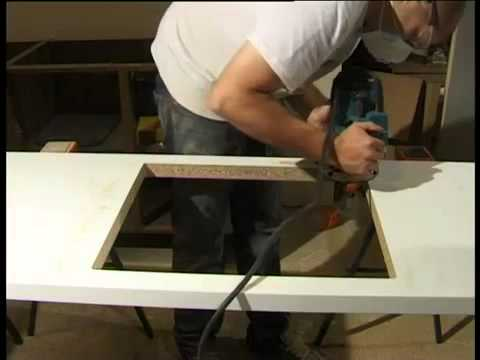 Mark Two Fitting Maia Worktops Cutting Out For A Sink