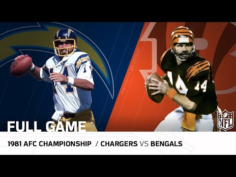 """1981 AFC Championship Game: Chargers vs. Bengals 