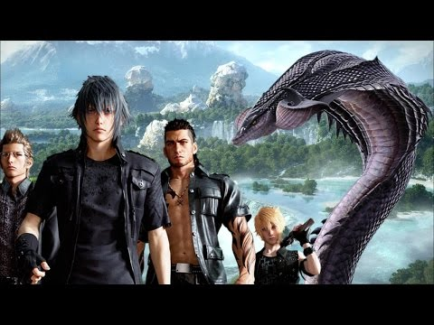 Final Fantasy 15: Fighting a Midgardsormr