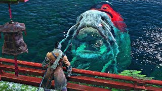 Sekiro Shadows Die Twice - Great Colored Carp Boss Fight (1080p 60fps)