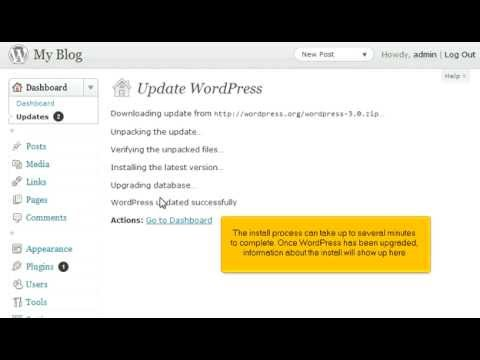 How to update your WordPress installation