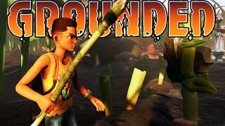 We Found Giant Spiders on our Front Lawn?! (Grounded Multiplayer Gameplay Roleplay)
