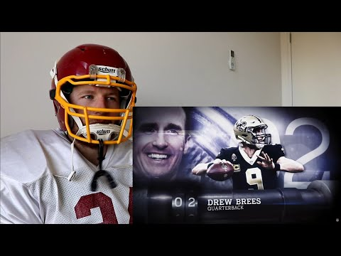 Rugby Player Reacts to DREW BREES (QB, Saints) #2 The NFL's Top 100 Players of 2019!