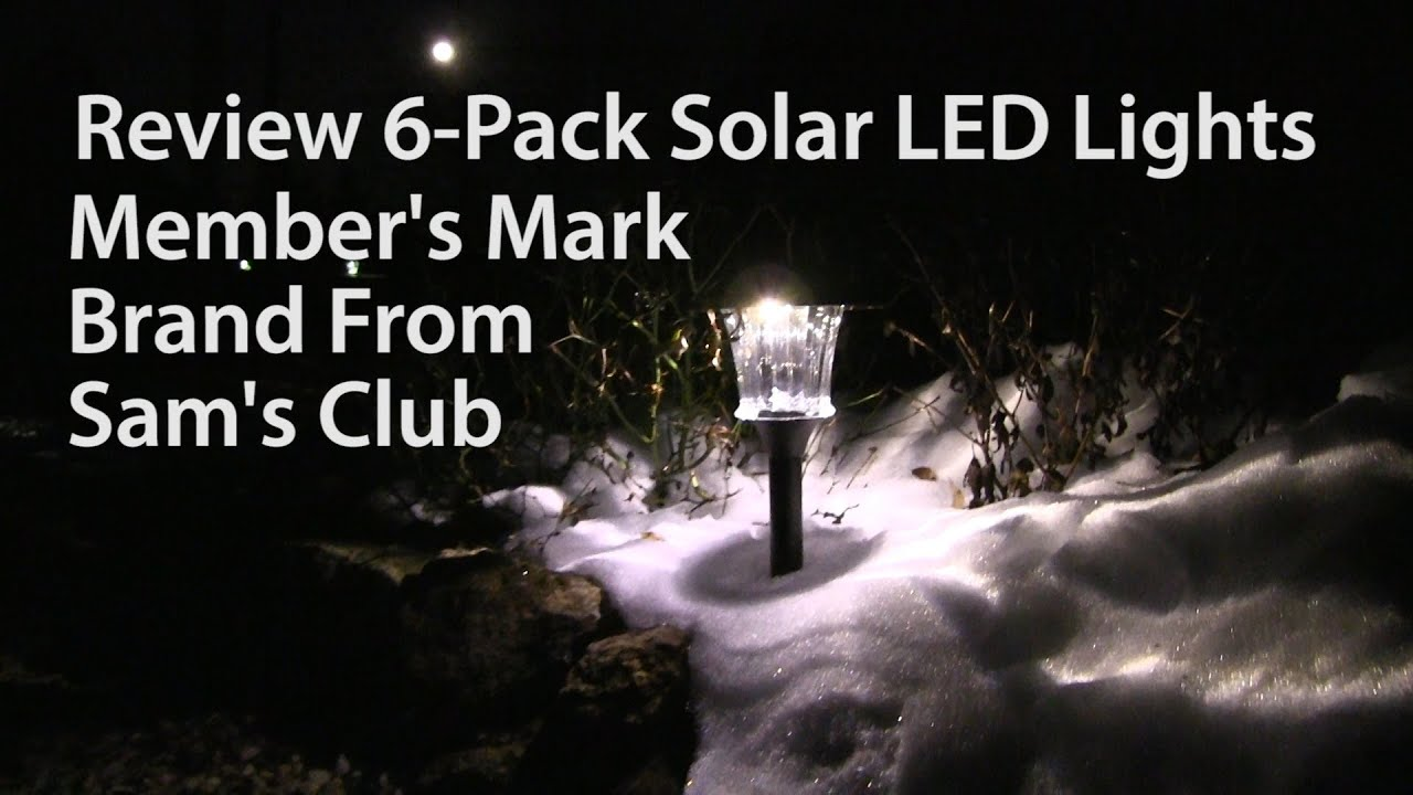 Review Members Mark 6 Pack Solar Led Outdoor Lights From