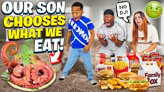 OUR SON DJ DECIDES WHAT WE EAT FOR 24 HOURS CHALLENGE **BAD IDEA**